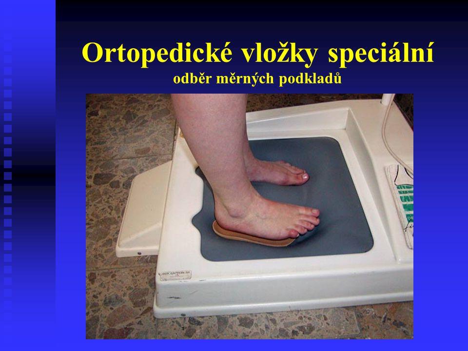 Ortopedické vložky speciální odběr měrných podkladů