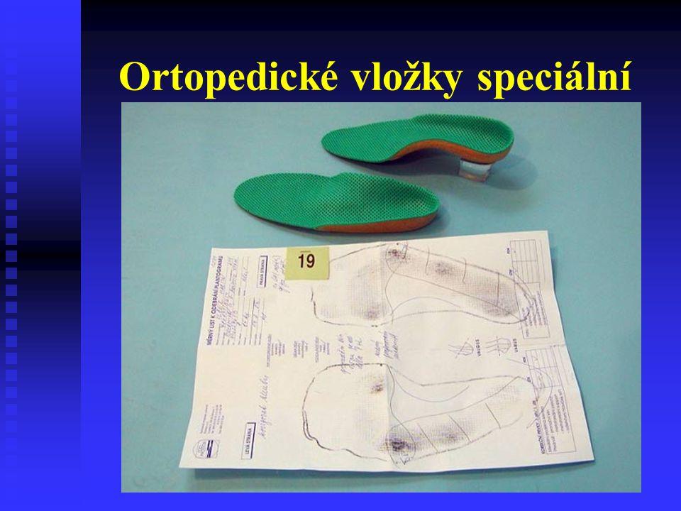 Ortopedické vložky speciální