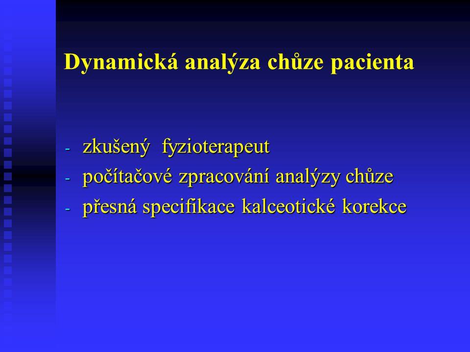 Dynamická analýza chůze pacienta