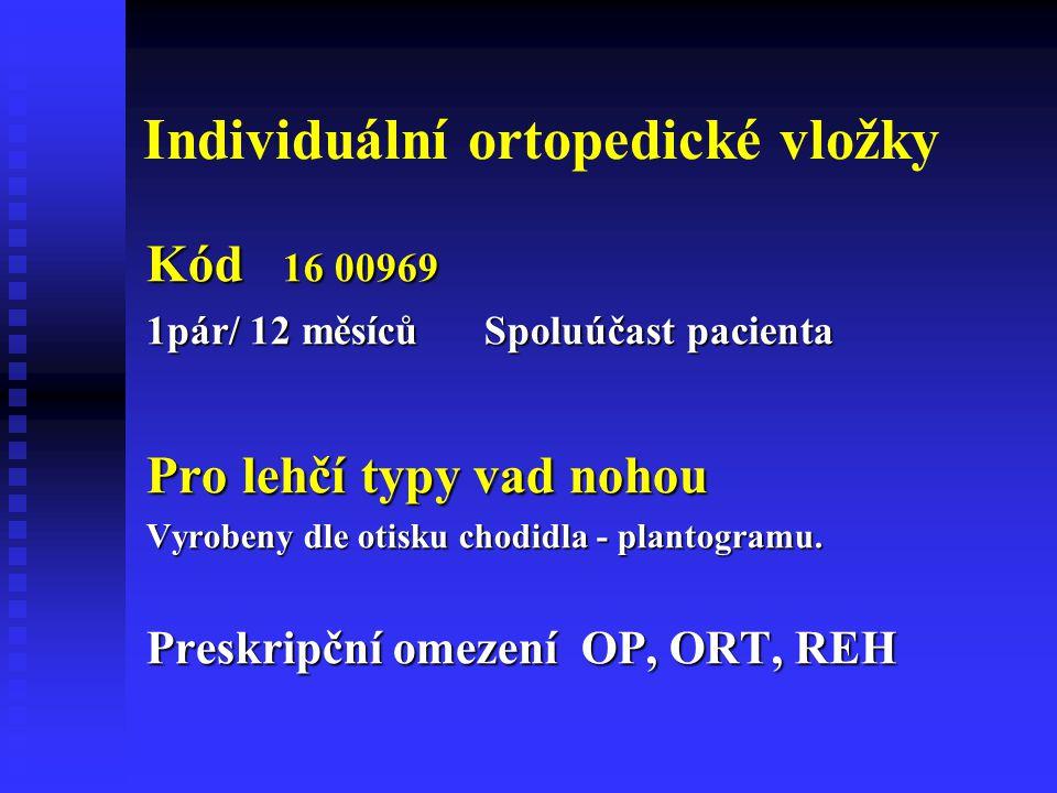 Individuální ortopedické vložky