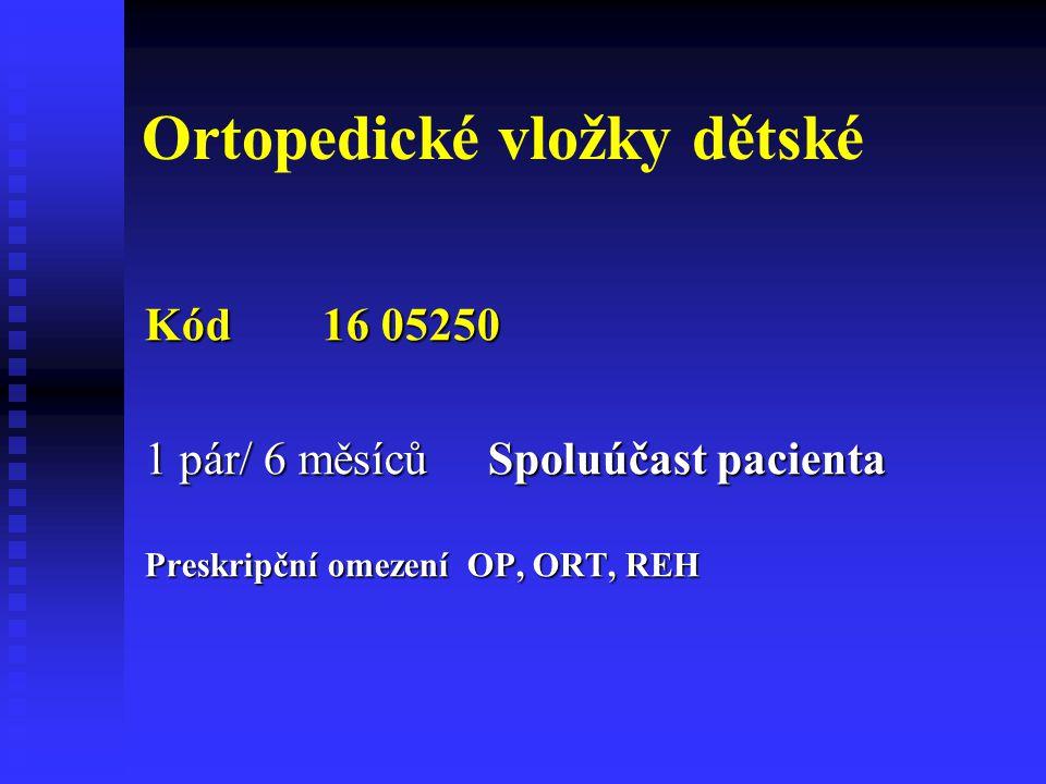Ortopedické vložky dětské