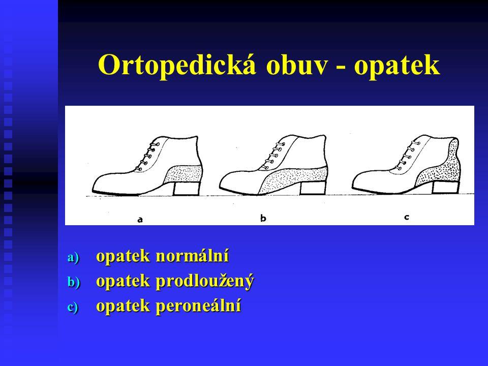 Ortopedická obuv - opatek