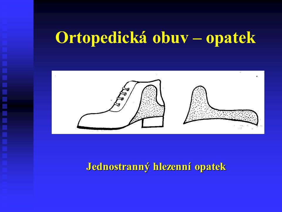 Ortopedická obuv – opatek