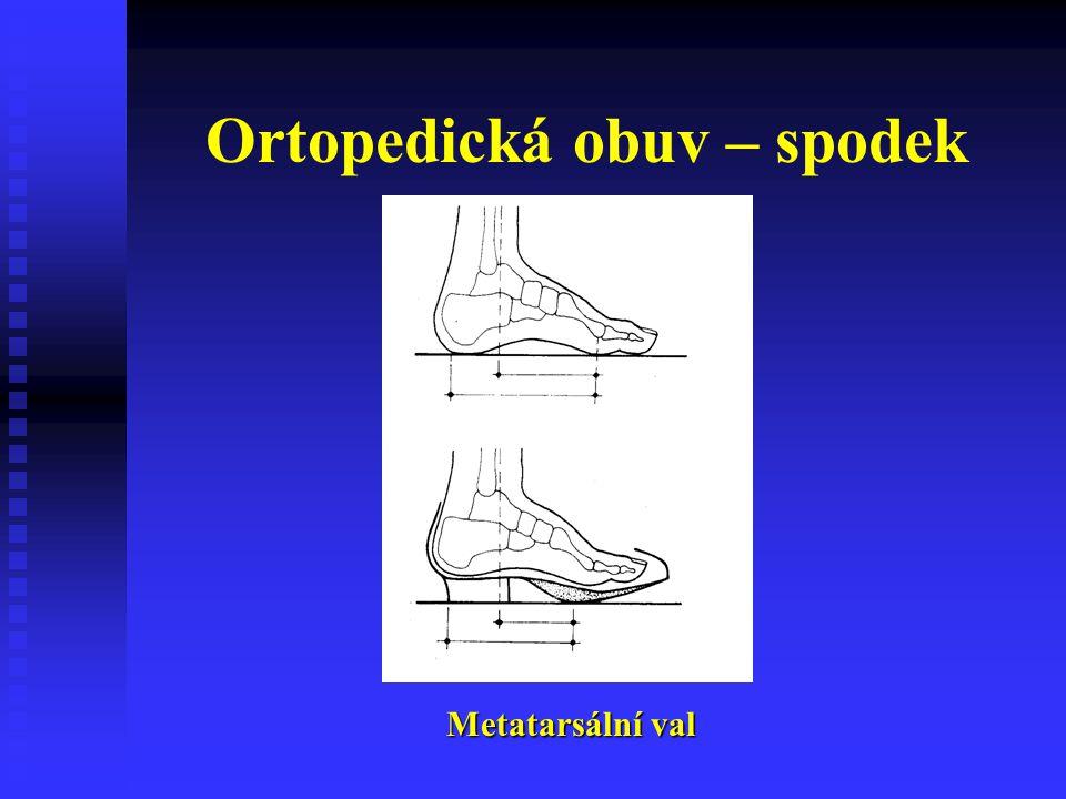 Ortopedická obuv – spodek