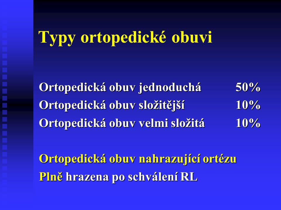 Typy ortopedické obuvi