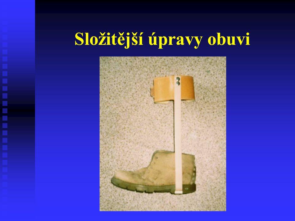 Složitější úpravy obuvi