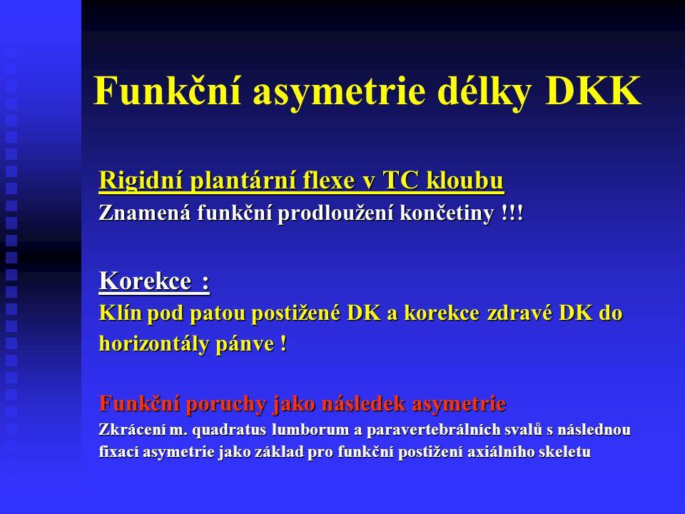 Funkční asymetrie délky DKK
