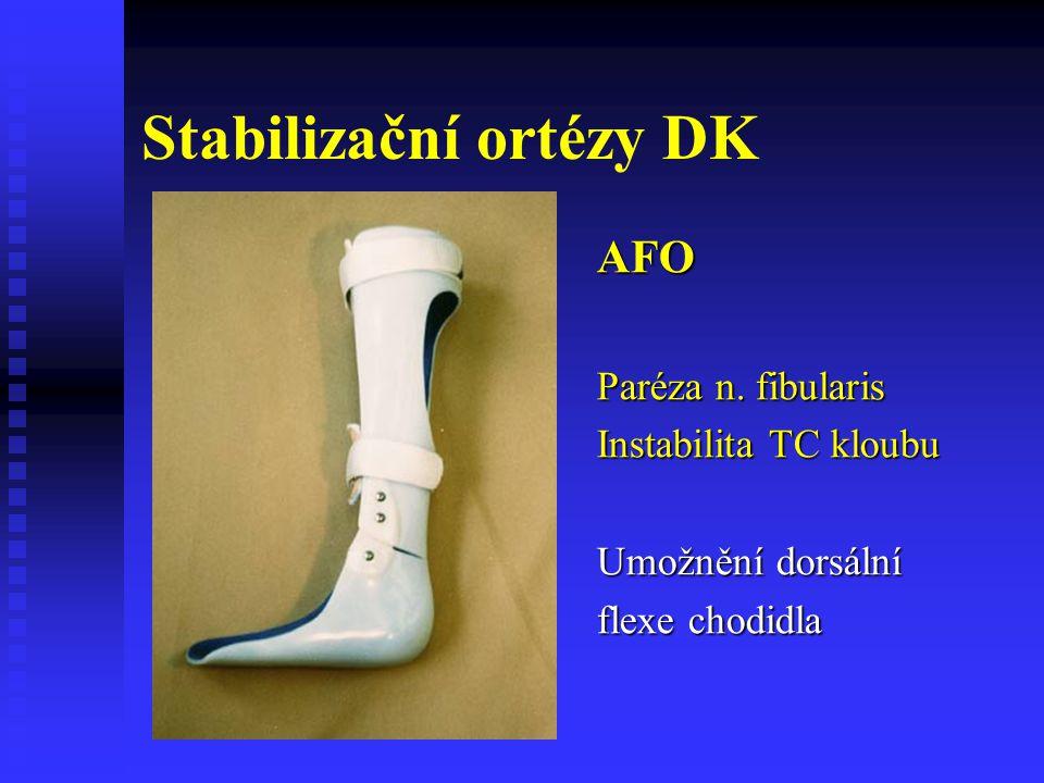 Stabilizační ortézy DK
