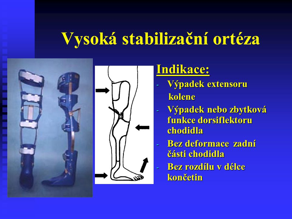 Vysoká stabilizační ortéza