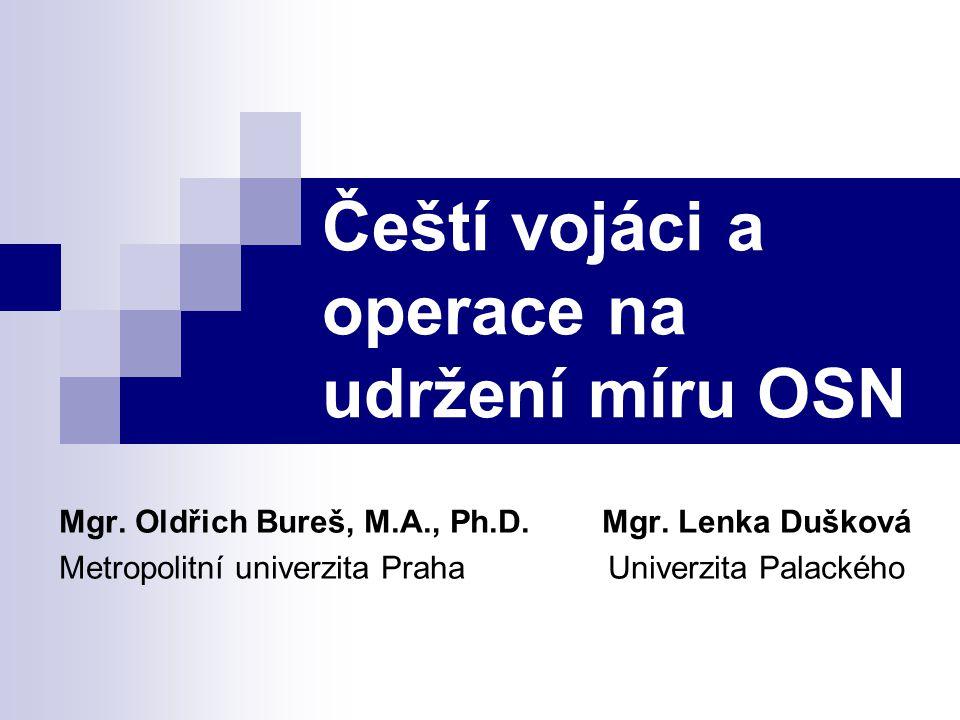 Čeští vojáci a operace na udržení míru OSN