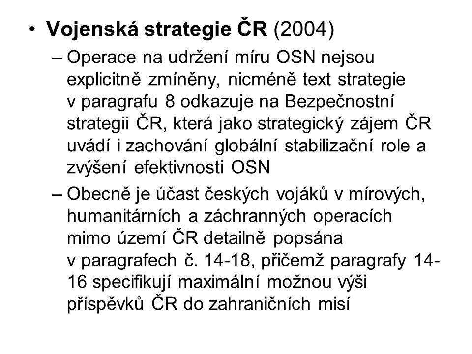 Vojenská strategie ČR (2004)