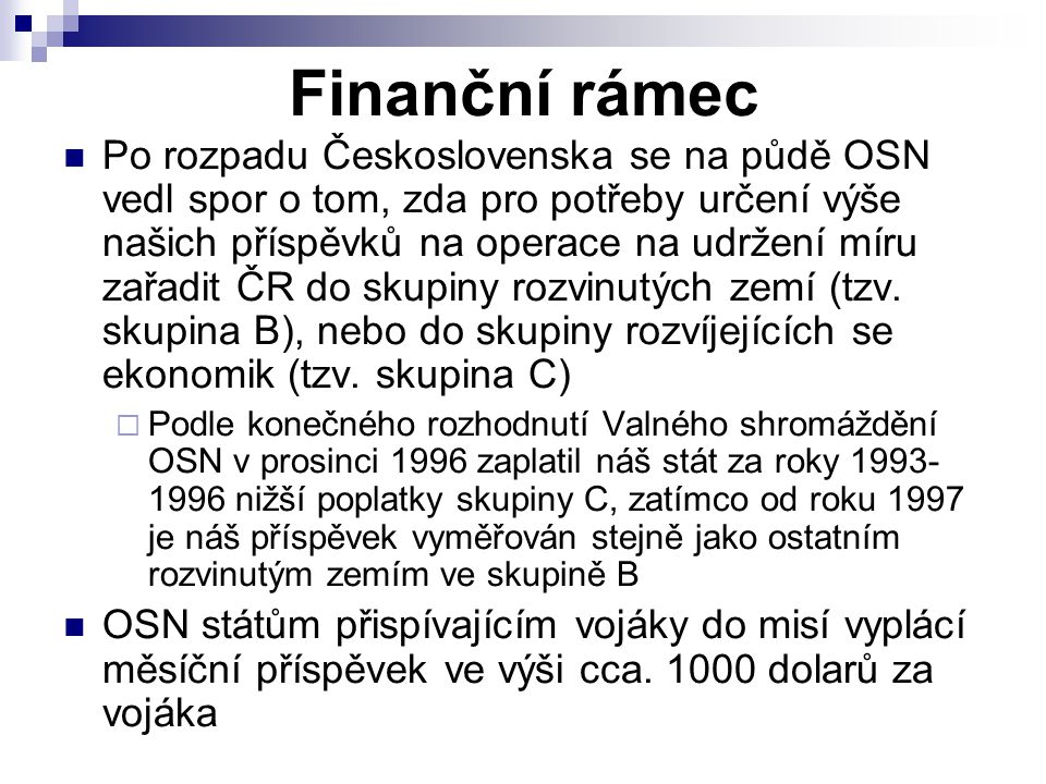Finanční rámec