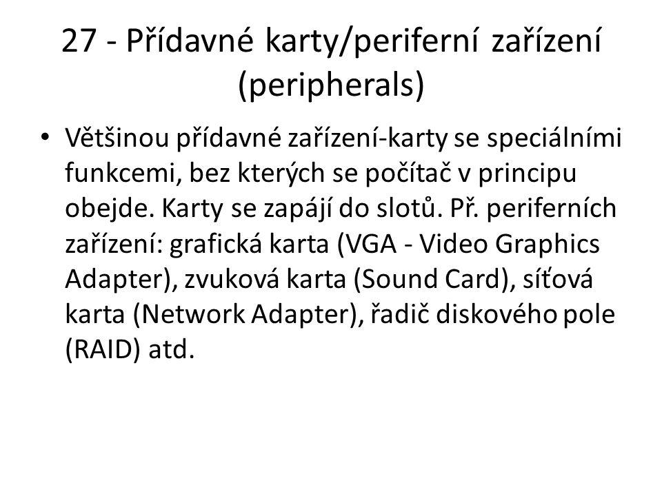 27 - Přídavné karty/periferní zařízení (peripherals)
