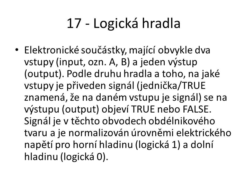 17 - Logická hradla