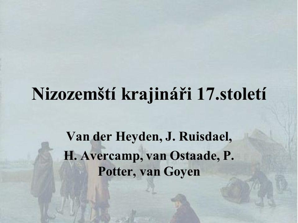 Nizozemští krajináři 17.století
