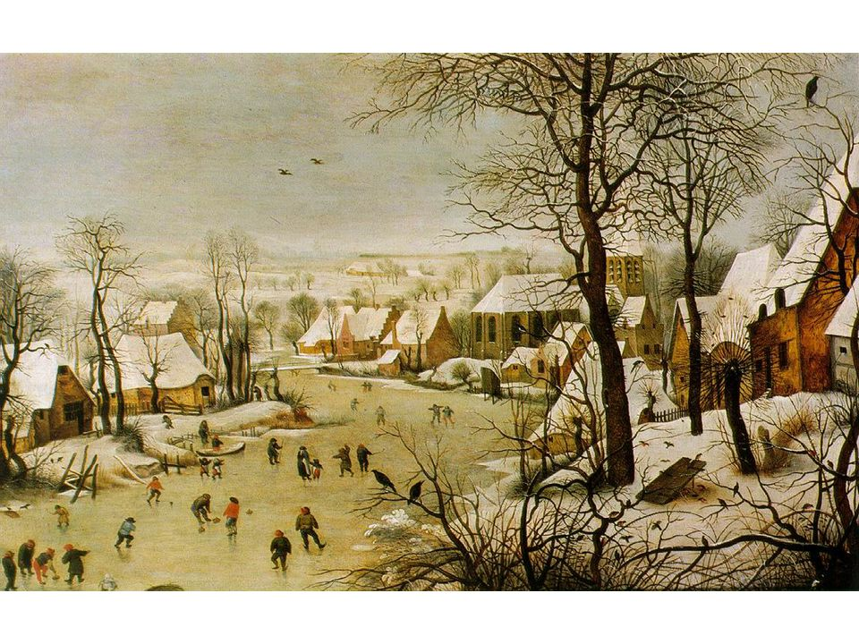 Zimní krajina s ptačími pastmi