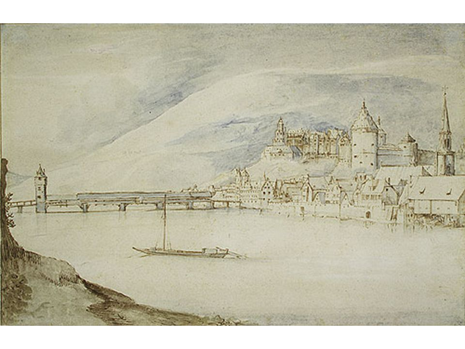 Brueghel sametový: Pohled na Heidelberg