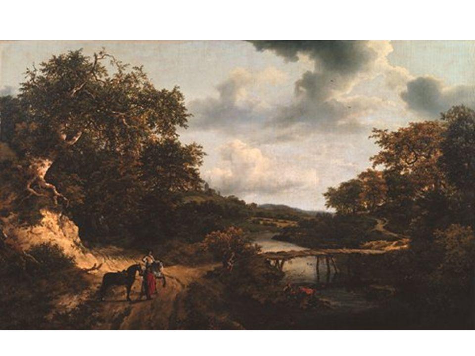 Krajina s mostem pro pěší