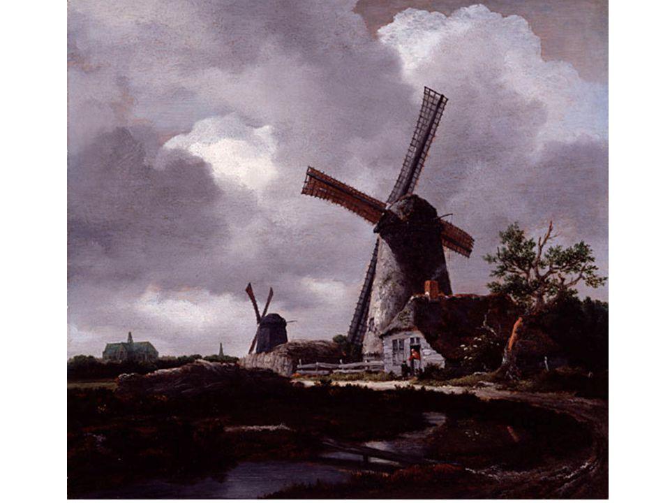 Krajina s větrnými mlýny poblíž Haarlemu