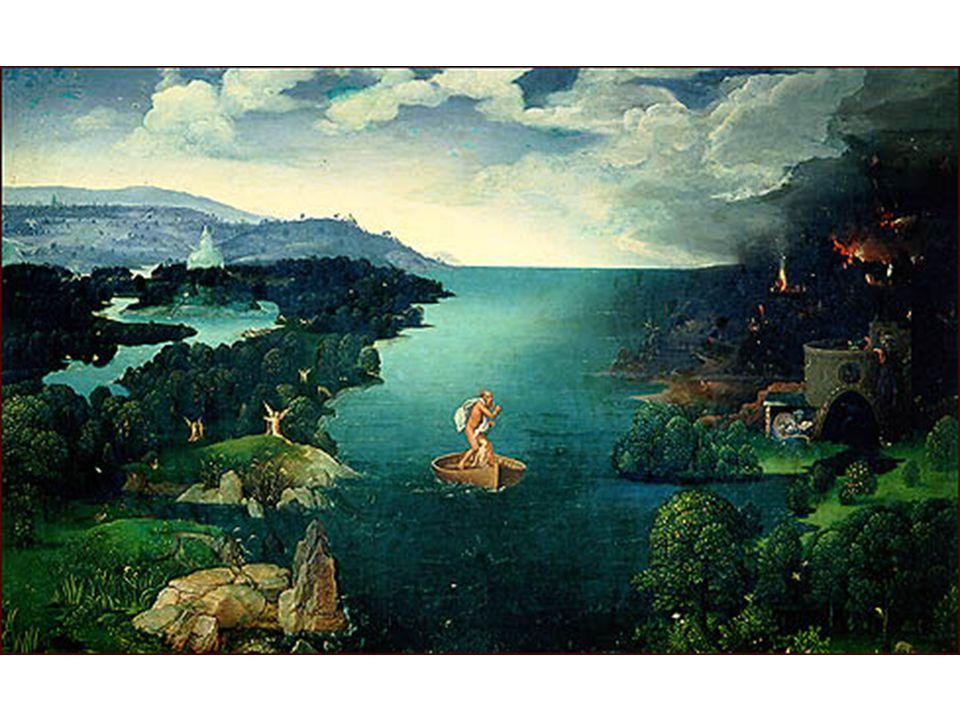 Joachim Patinir: Charon překračující řeku Styx