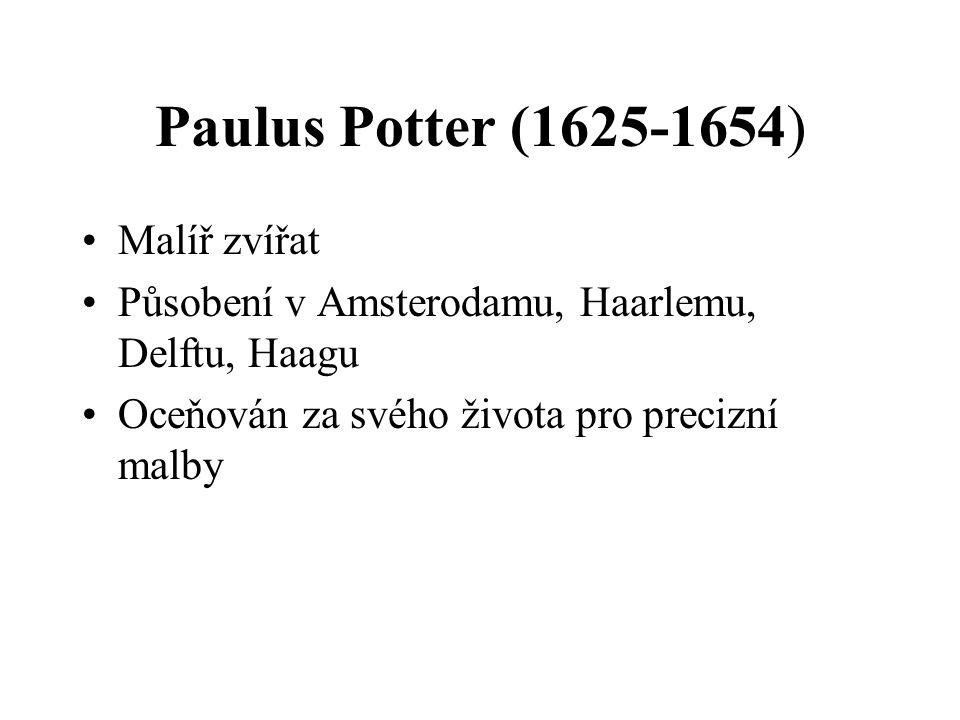 Paulus Potter (1625-1654) Malíř zvířat
