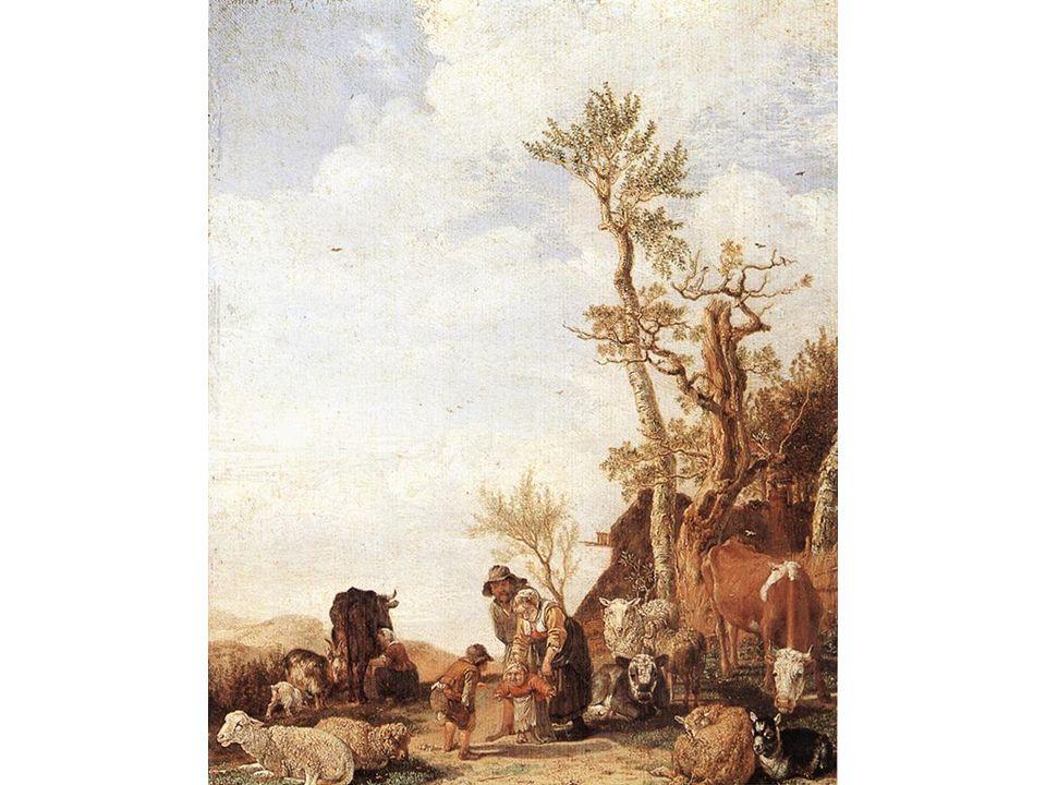 Rolnická rodina se zvířaty