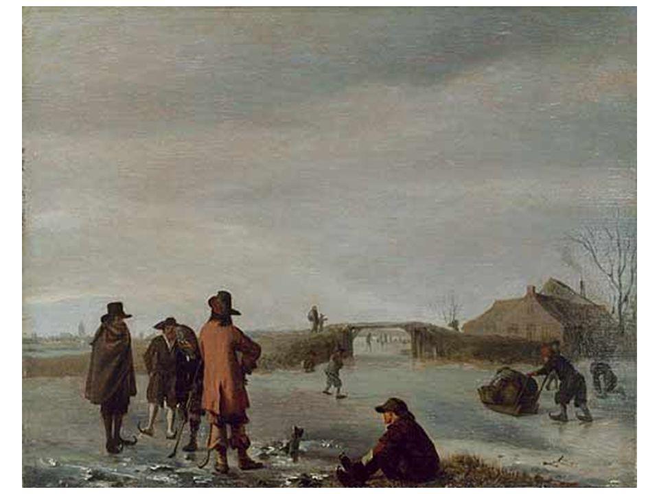 Zimní scéna s golfisty