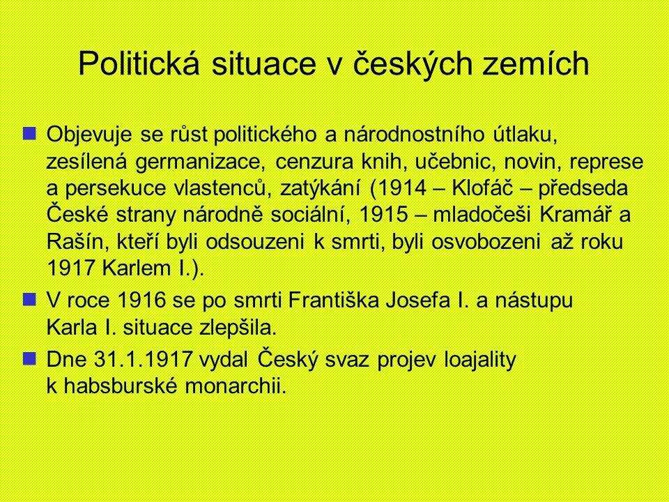 Politická situace v českých zemích
