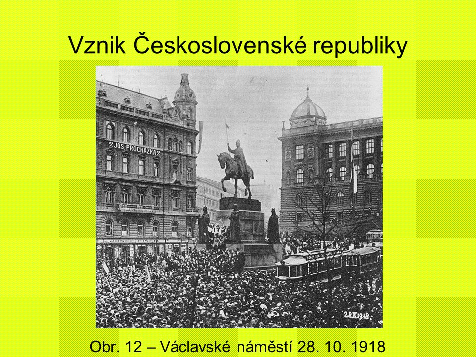 Vznik Československé republiky