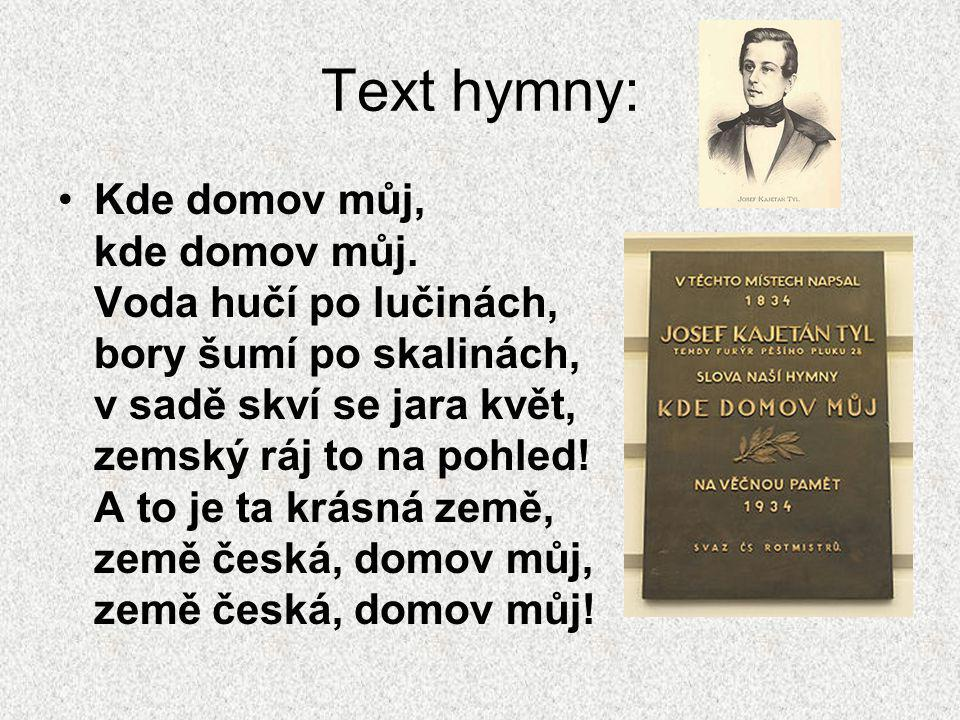 Text hymny: