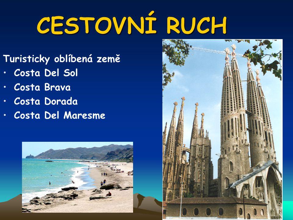 CESTOVNÍ RUCH Turisticky oblíbená země Costa Del Sol Costa Brava