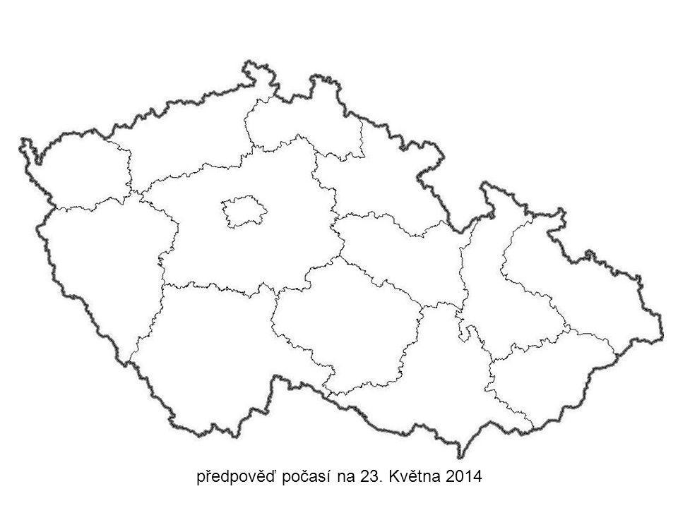 předpověď počasí na 23. Května 2014