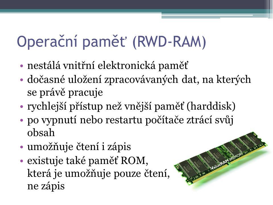 Operační paměť (RWD-RAM)