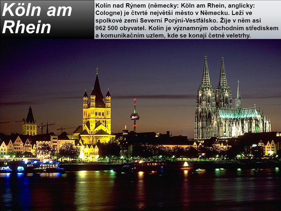 Kolín nad Rýnem (německy: Köln am Rhein, anglicky: Cologne) je čtvrté největší město v Německu. Leží ve spolkové zemi Severní Porýní-Vestfálsko. Žije v něm asi 962 500 obyvatel. Kolín je významným obchodním střediskem a komunikačním uzlem, kde se konají četné veletrhy.