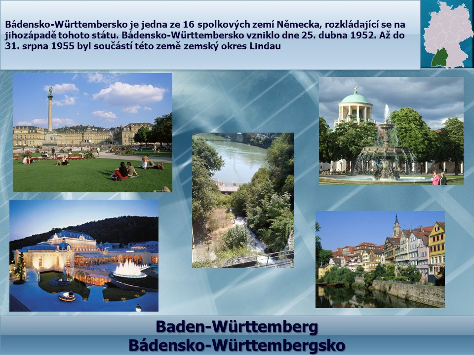 Baden-Württemberg Bádensko-Württembergsko