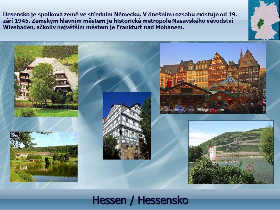 Hesensko je spolková země ve středním Německu