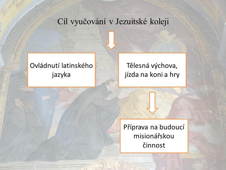 Cíl vyučování v Jezuitské koleji
