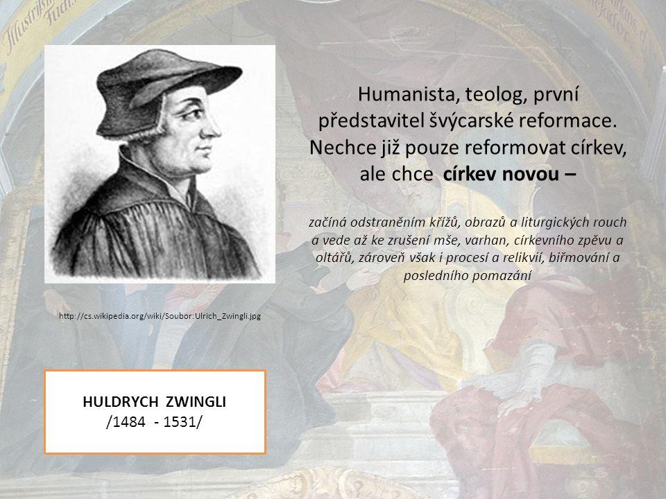 Humanista, teolog, první představitel švýcarské reformace.