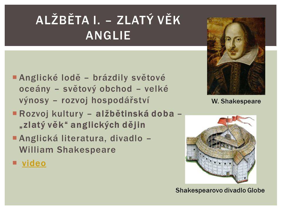 Alžběta i. – zlatý věk anglie