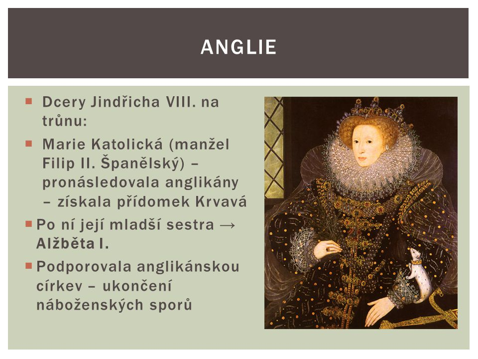 Anglie Dcery Jindřicha VIII. na trůnu: