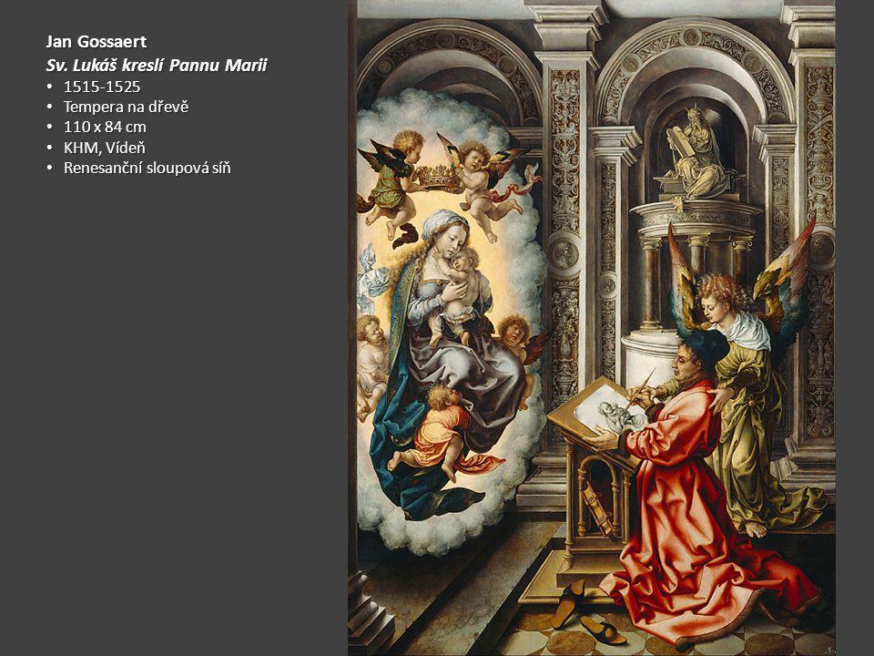 Sv. Lukáš kreslí Pannu Marii