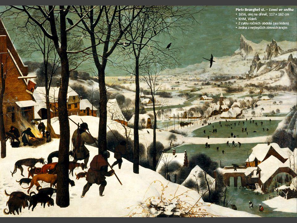 Pietr Brueghel st. – Lovci ve sněhu