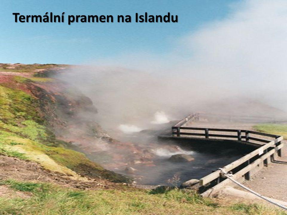 Termální pramen na Islandu