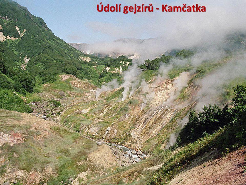 Údolí gejzírů - Kamčatka
