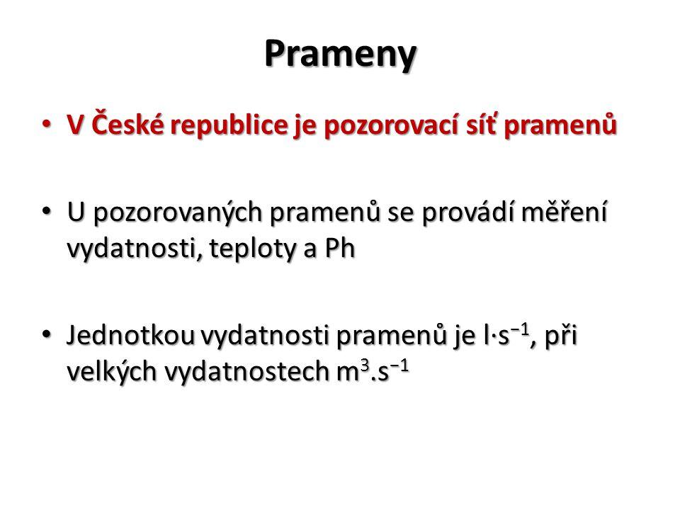 Prameny V České republice je pozorovací síť pramenů