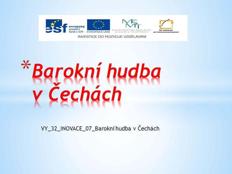 Barokní hudba v Čechách