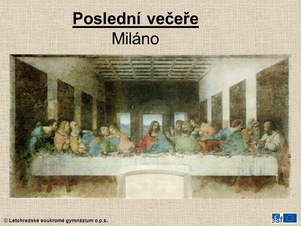 Poslední večeře Miláno