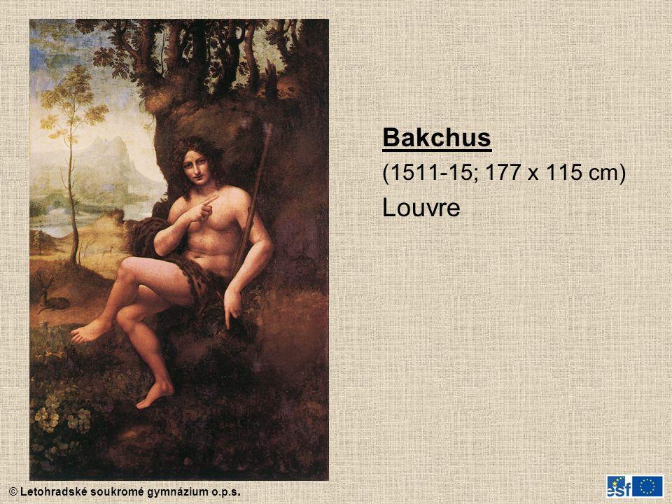 Bakchus (1511-15; 177 x 115 cm) Louvre