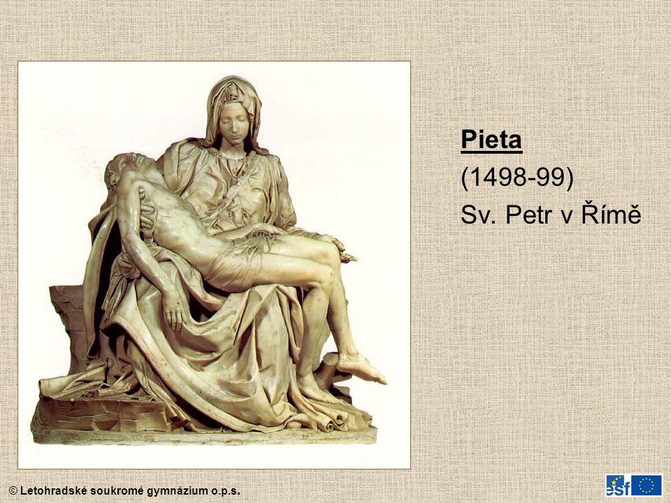 Pieta (1498-99) Sv. Petr v Římě