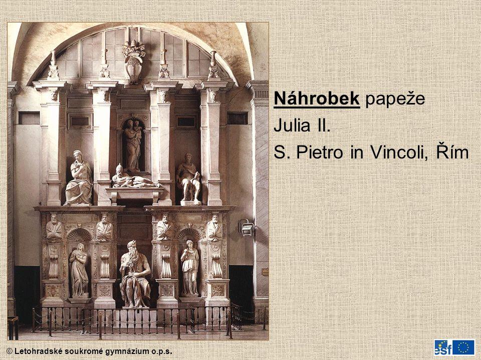 Náhrobek papeže Julia II. S. Pietro in Vincoli, Řím